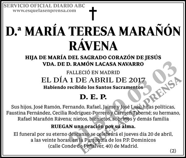 María Teresa Marañón Rávena